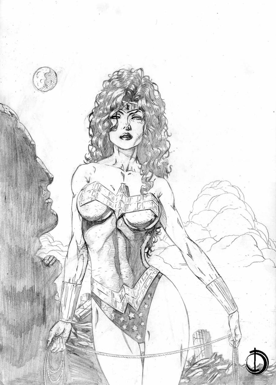 Wonder Woman Skethc by santiagocomics