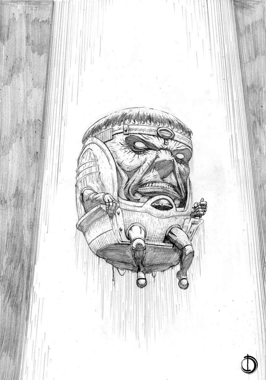 Modok Sketch by santiagocomics