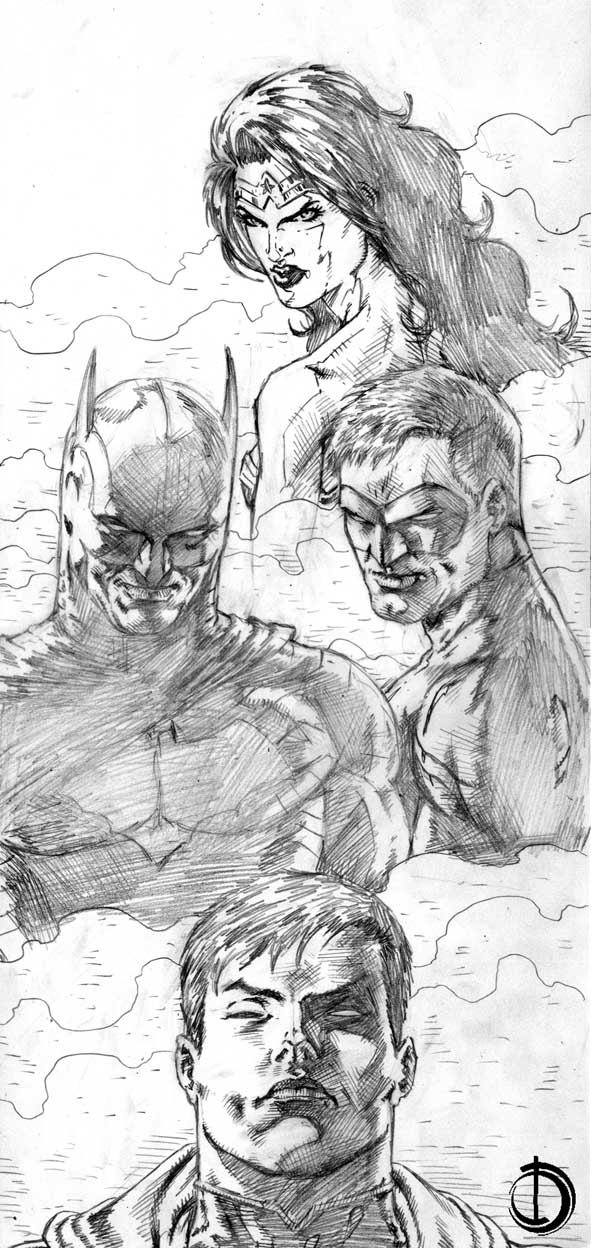League Sketch by santiagocomics