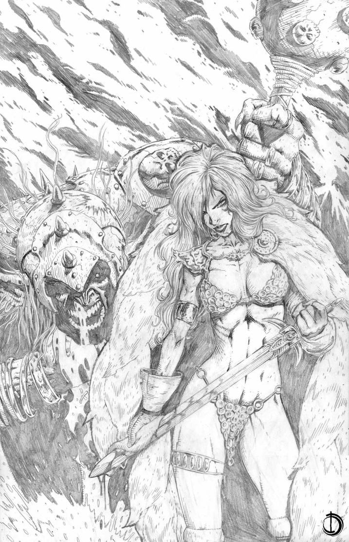 Red Sonja Cover2 by santiagocomics
