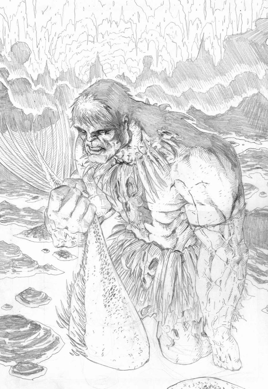 Hulk skecht by santiagocomics