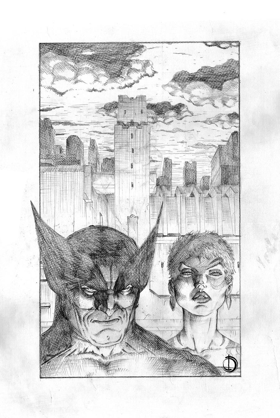 Logan y Jean by santiagocomics