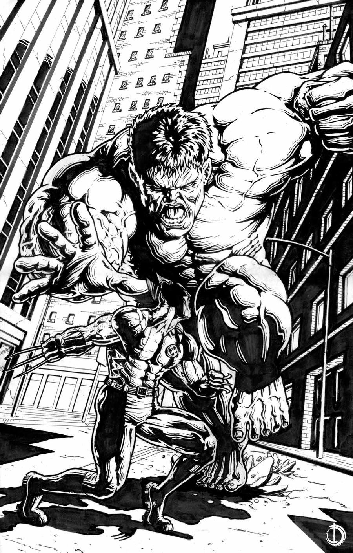 Hulk Vs Wolveryne by santiagocomics