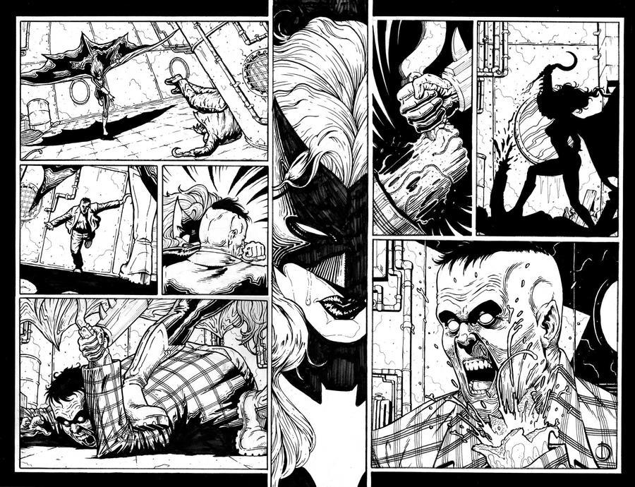 Batwoman page 2-3 by santiagocomics