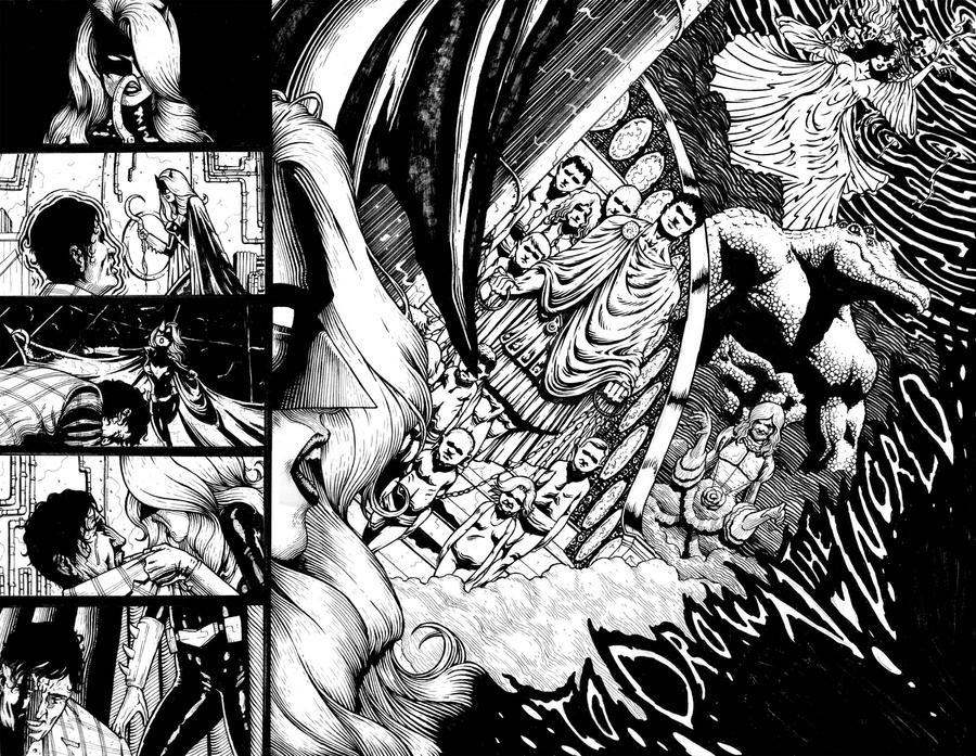 Batwoman page4-5 by santiagocomics