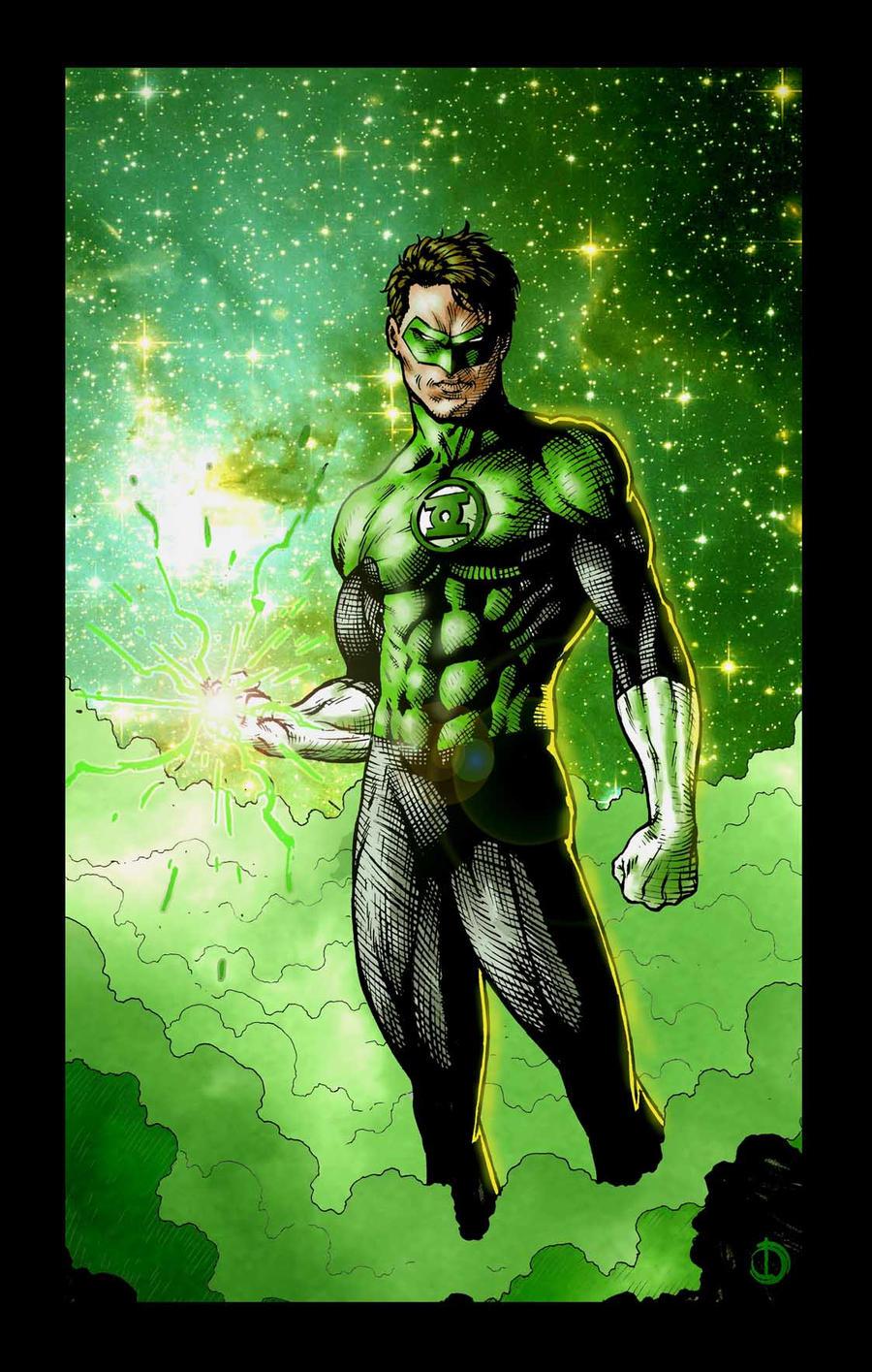 Green Lantern color by santiagocomics