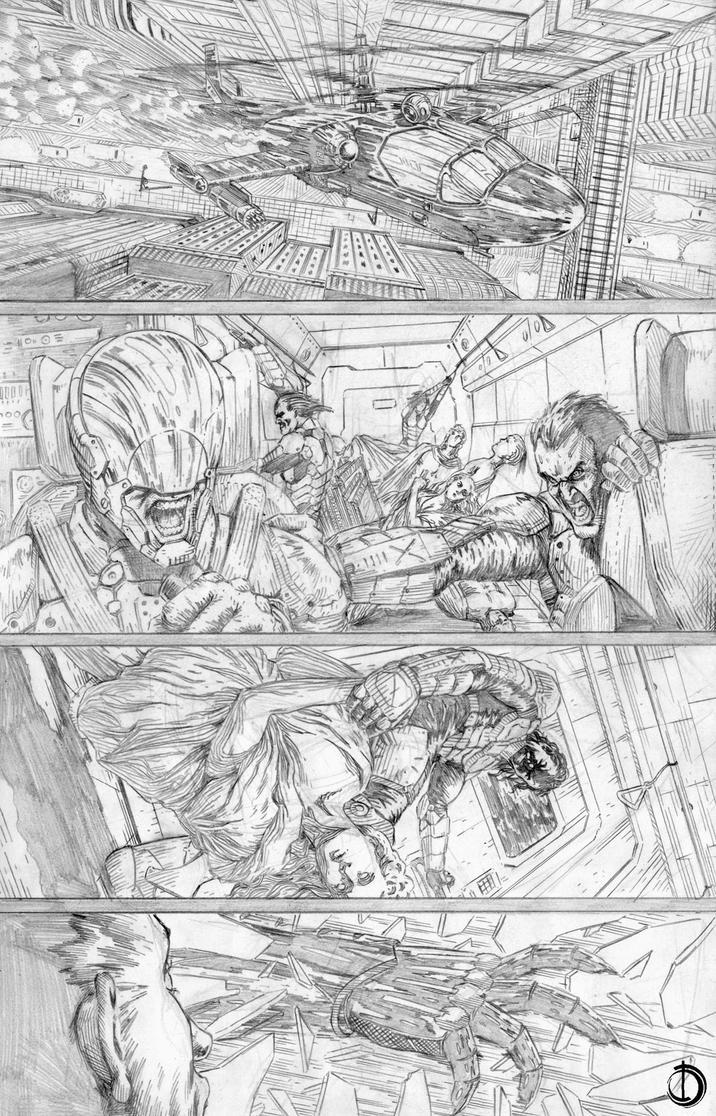 Batman Issue2 page3 by santiagocomics