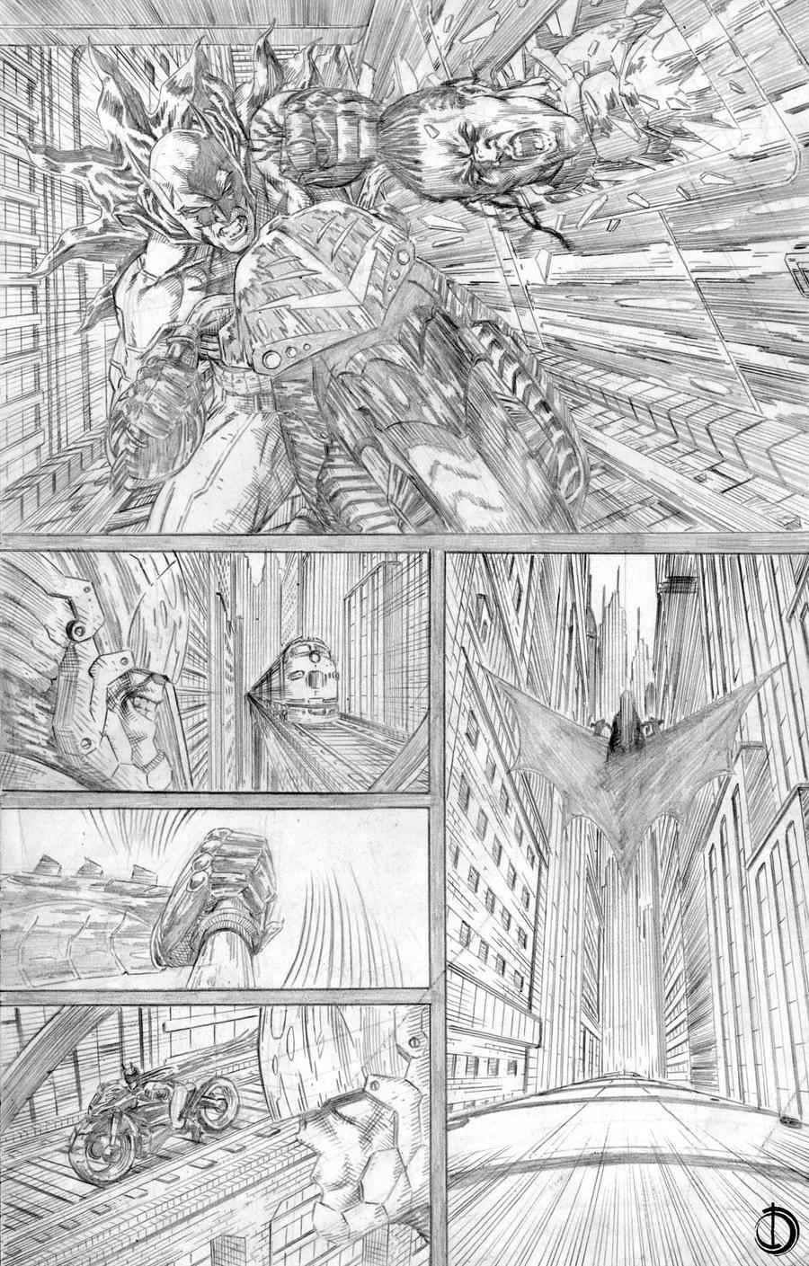 Batman Issue2 page4 by santiagocomics