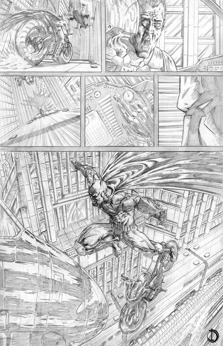 Batman Issue2 page5 by santiagocomics