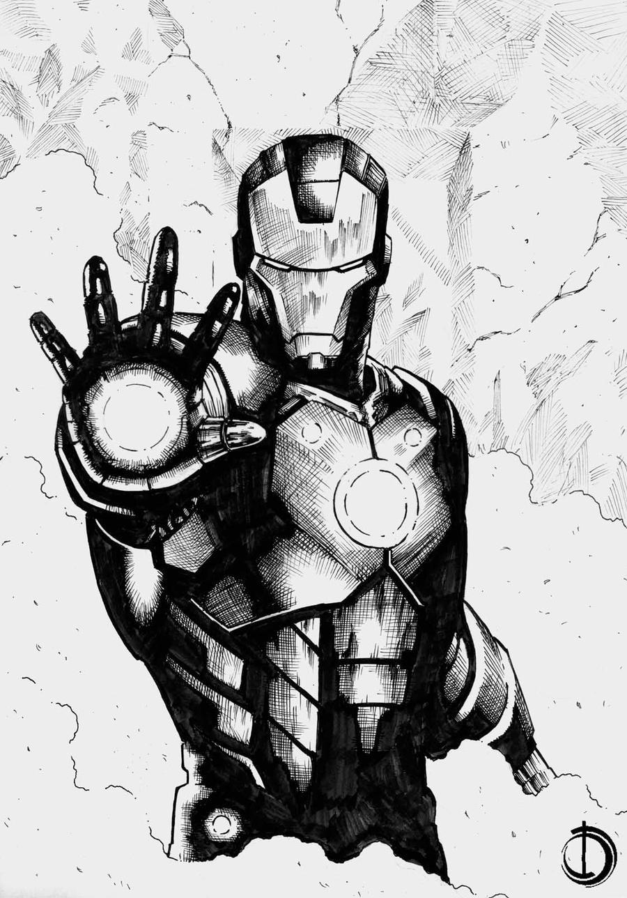 Iron Man by santiagocomics