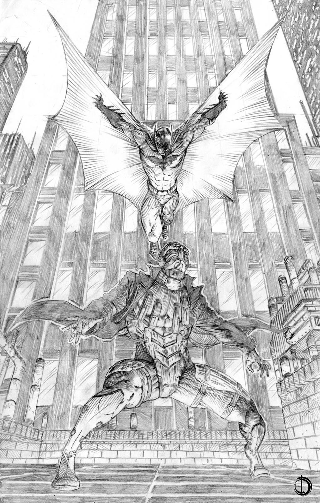 SanEspina Batman Vs Deadshot pin-up by santiagocomics