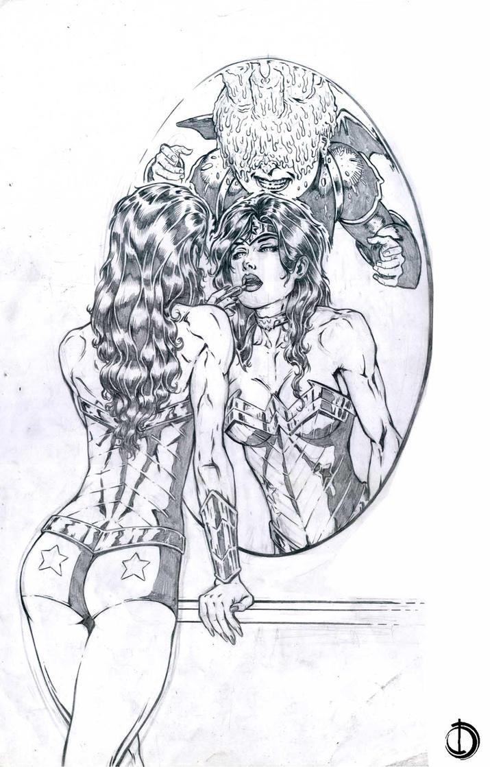 SanEspina WonderWoman Pin-up by santiagocomics