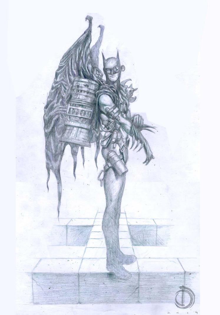 SanEspina Batman ilustration1 by santiagocomics