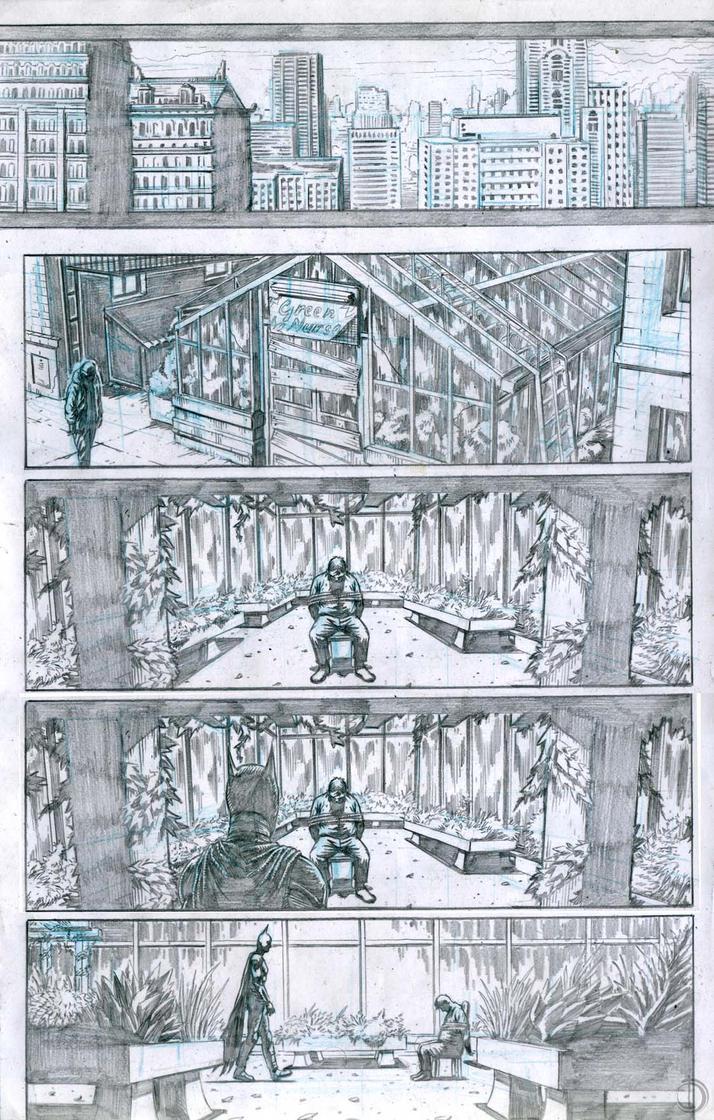 SanEspina BatmanInGotham page1 by santiagocomics