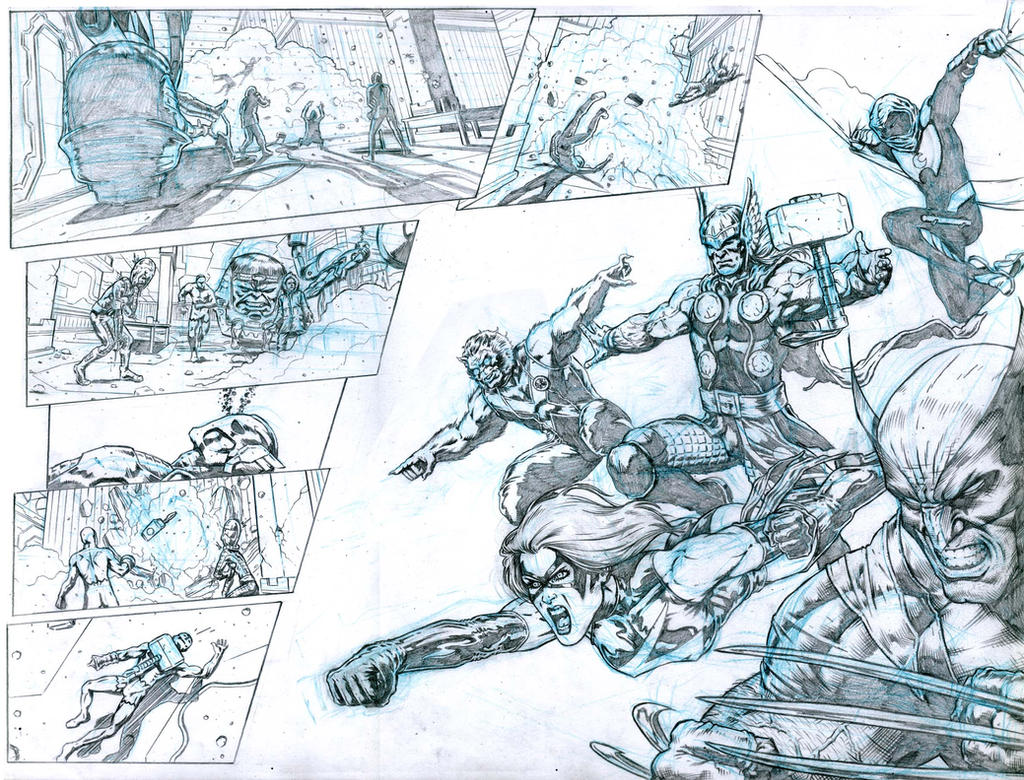 SanEspina Avengers page20-21 by santiagocomics