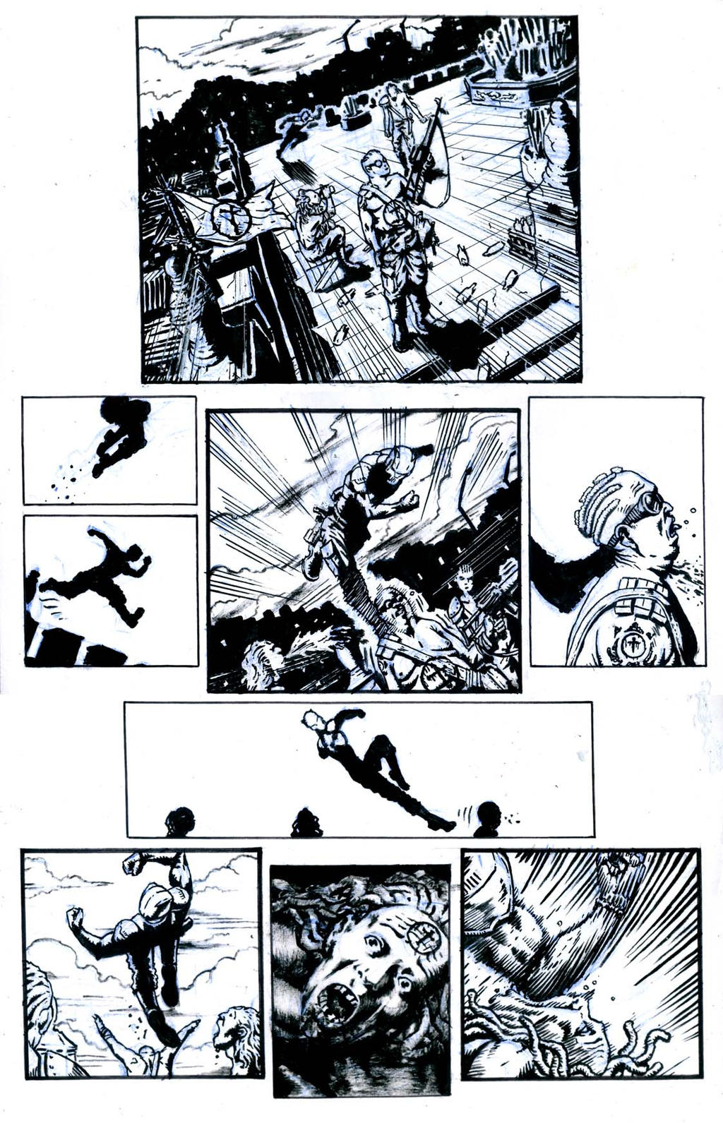 SanEspina IronWolf page3 ink by santiagocomics