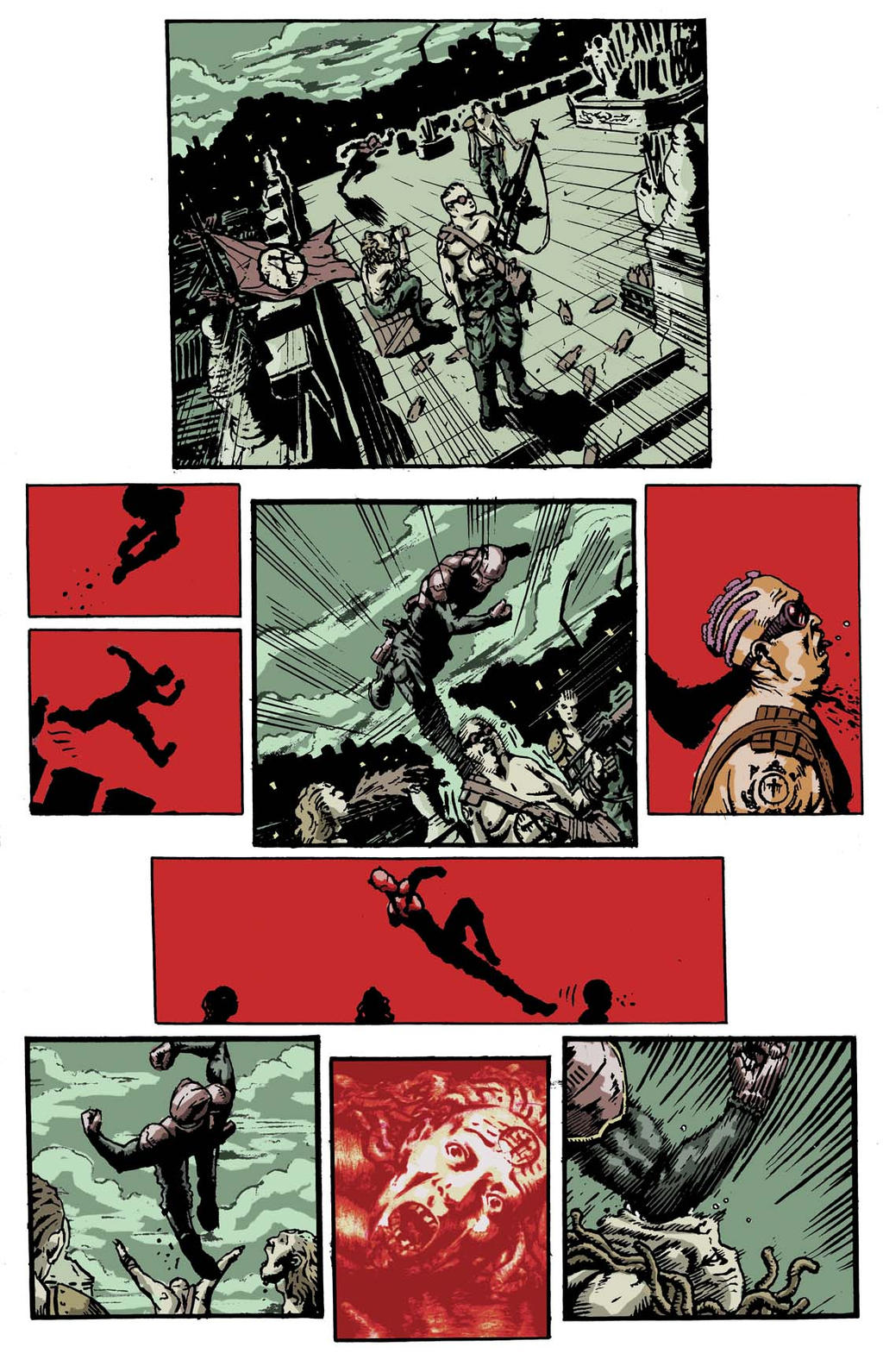 SanEspina IronWolf page3 color by santiagocomics