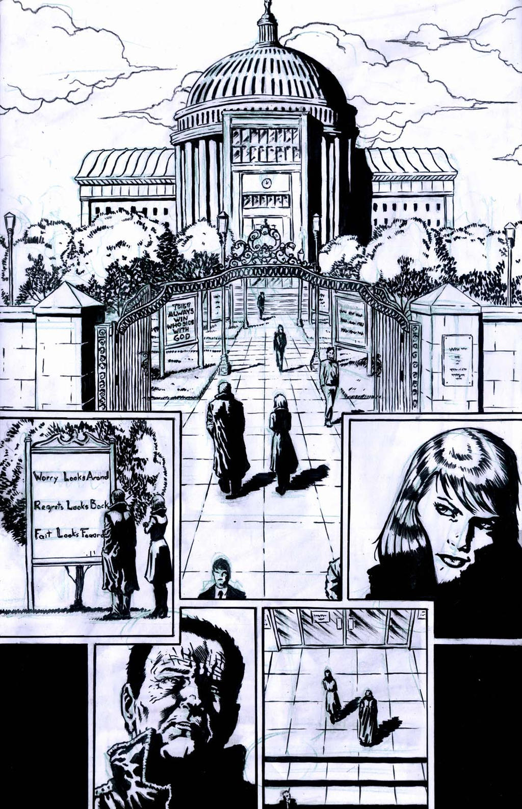 The Ageless issue2 page1 inks by santiagocomics