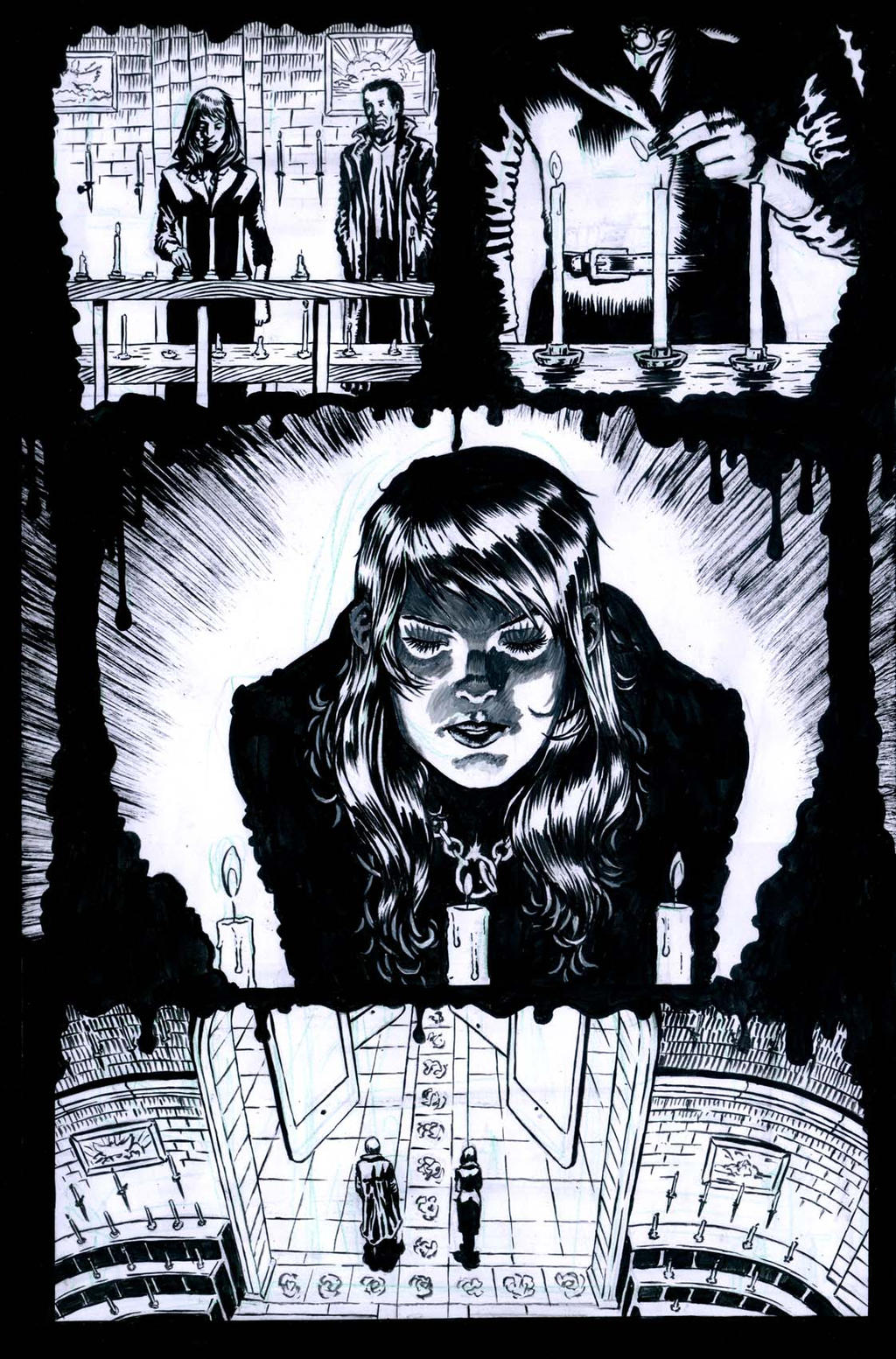 The Ageless issue2 page4 inks by santiagocomics
