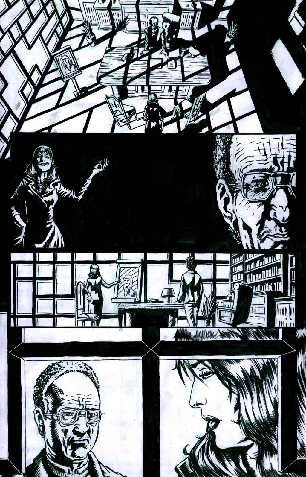The Ageless issue2 pageX inks by santiagocomics