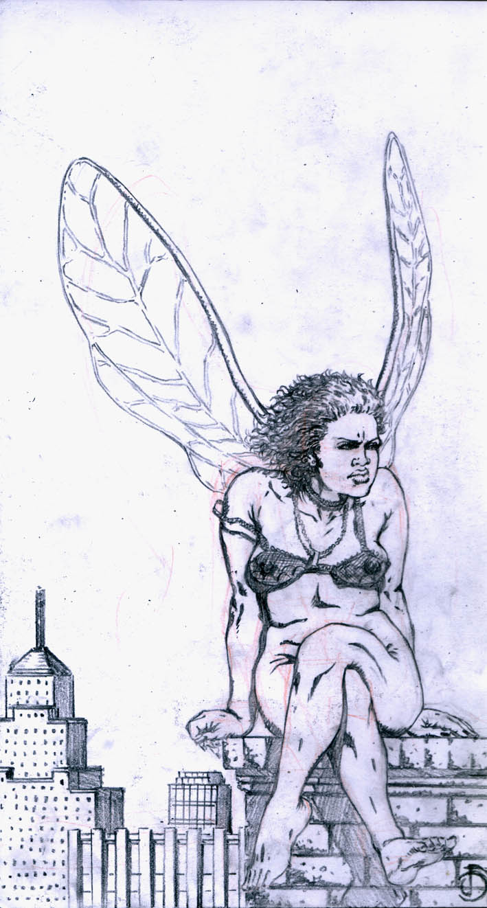 Angel pencils by santiagocomics