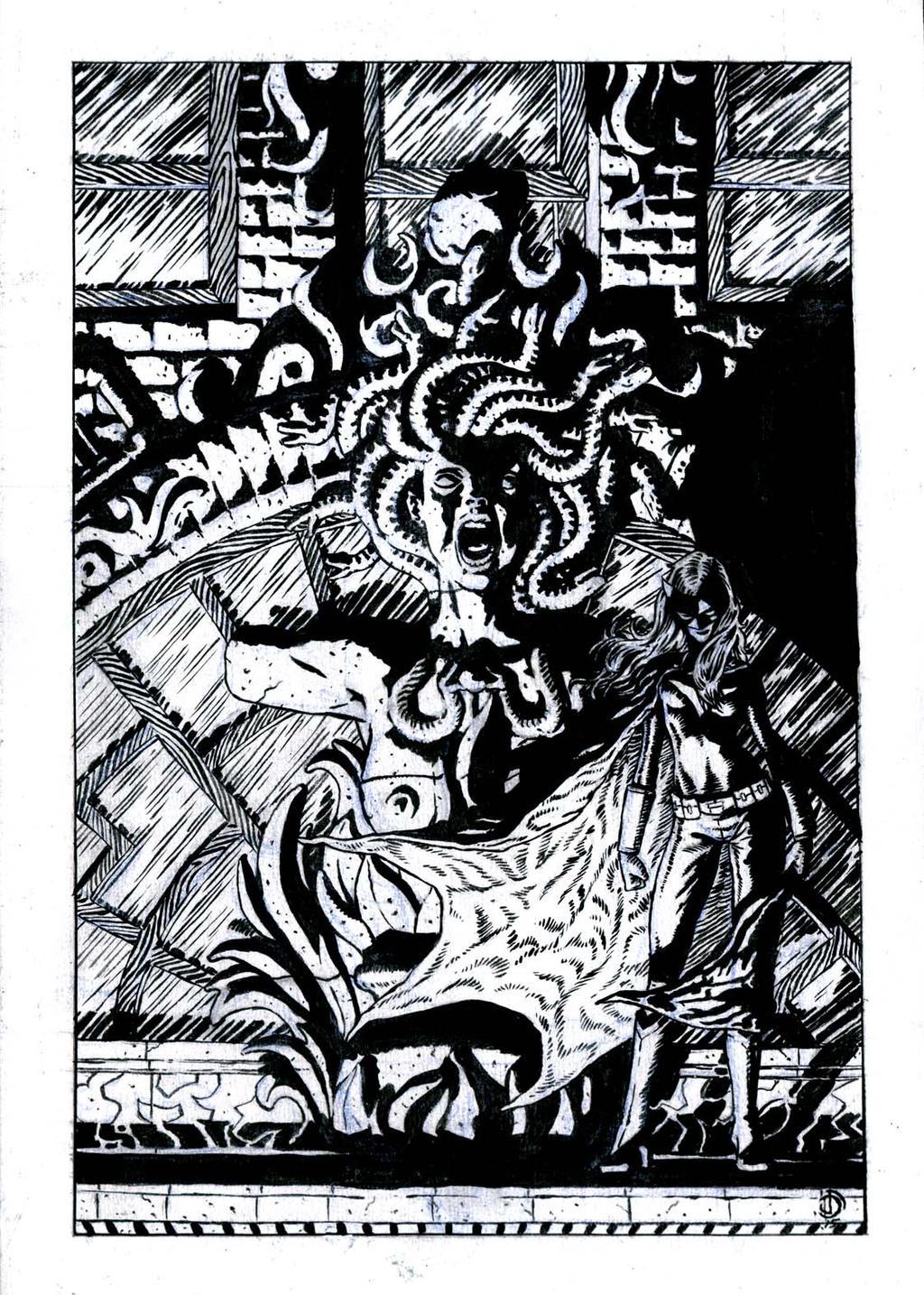 SanEspina Batwoman Cover inks by santiagocomics