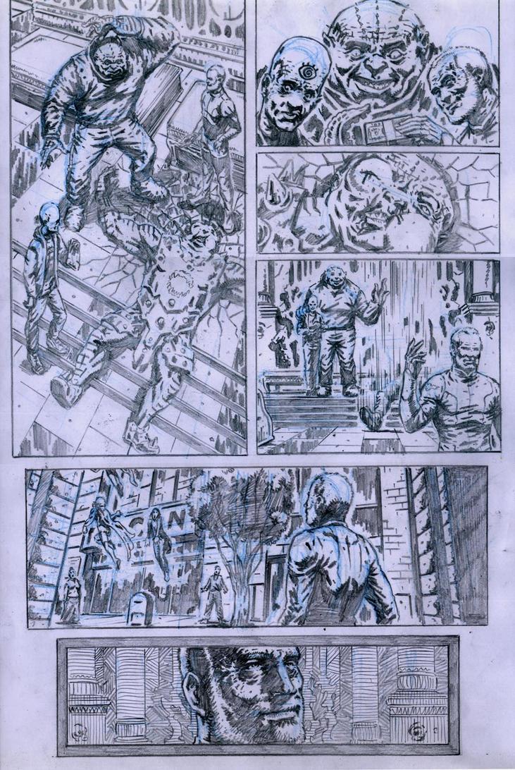 SanEspina JupiterLegacy Page3 pencils by santiagocomics
