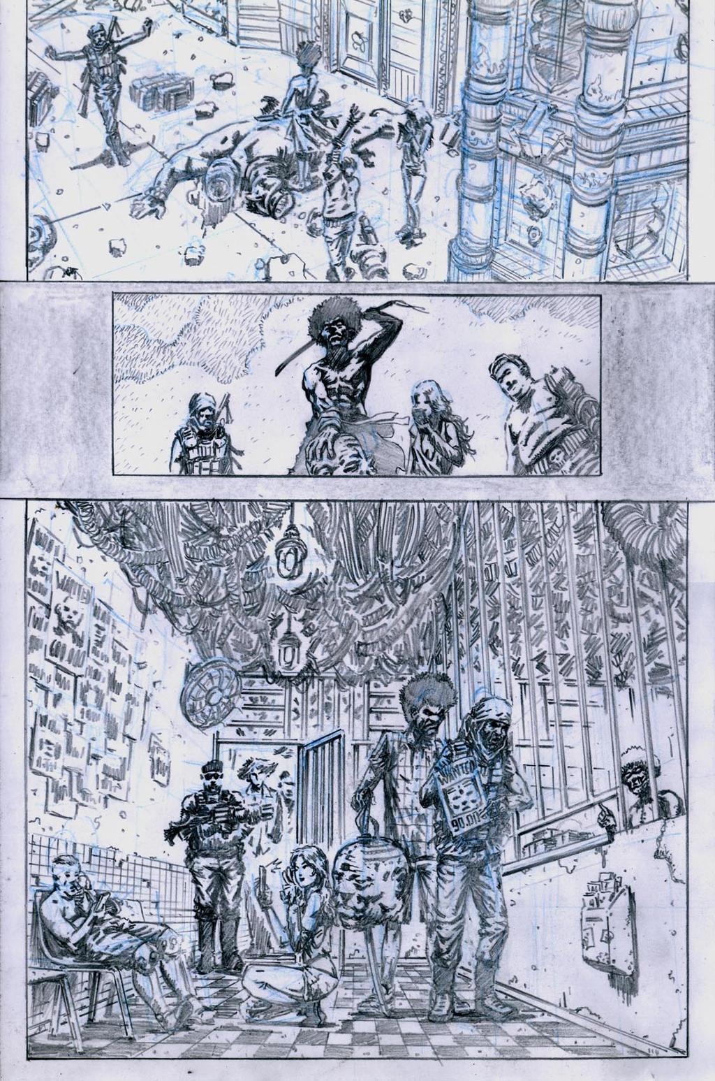 SanEspina Wanted page5 pencils by santiagocomics