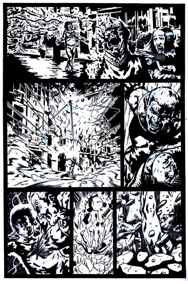 SanEspina MiracleMan Page2 inks by santiagocomics