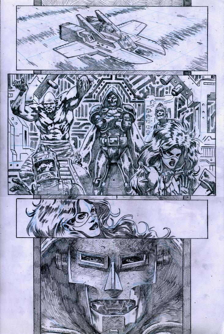 SanEspina Inhumans page1 pencils by santiagocomics