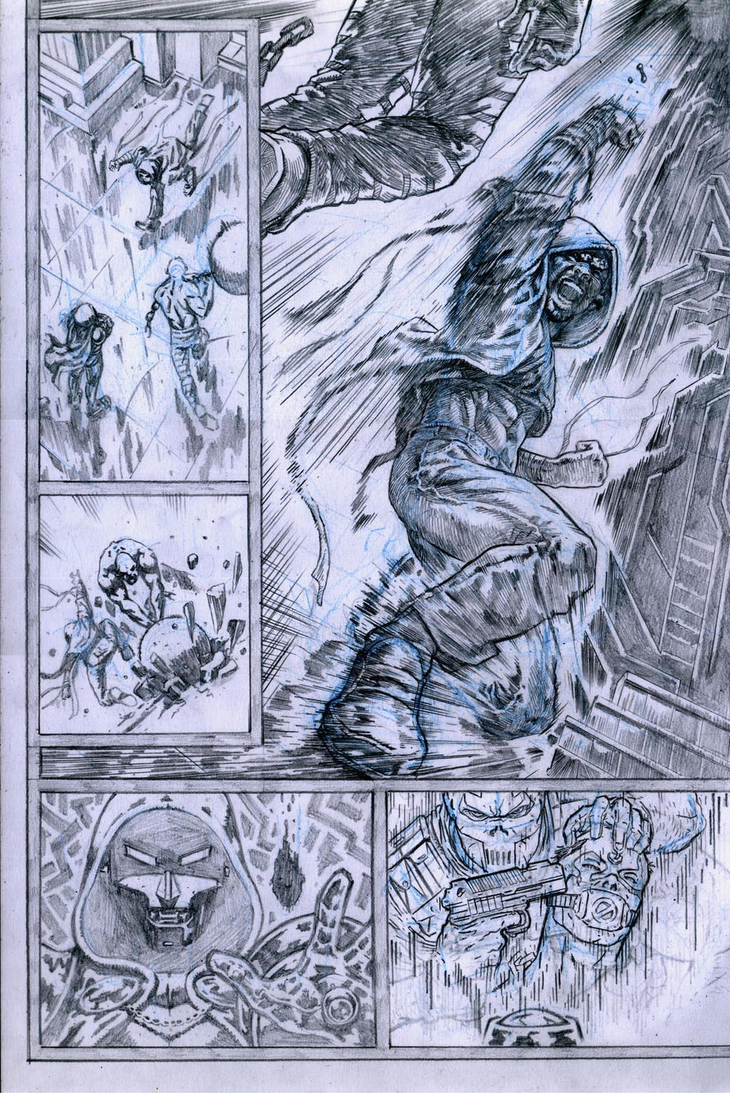 SanEspina Inhumans page3 pencils by santiagocomics