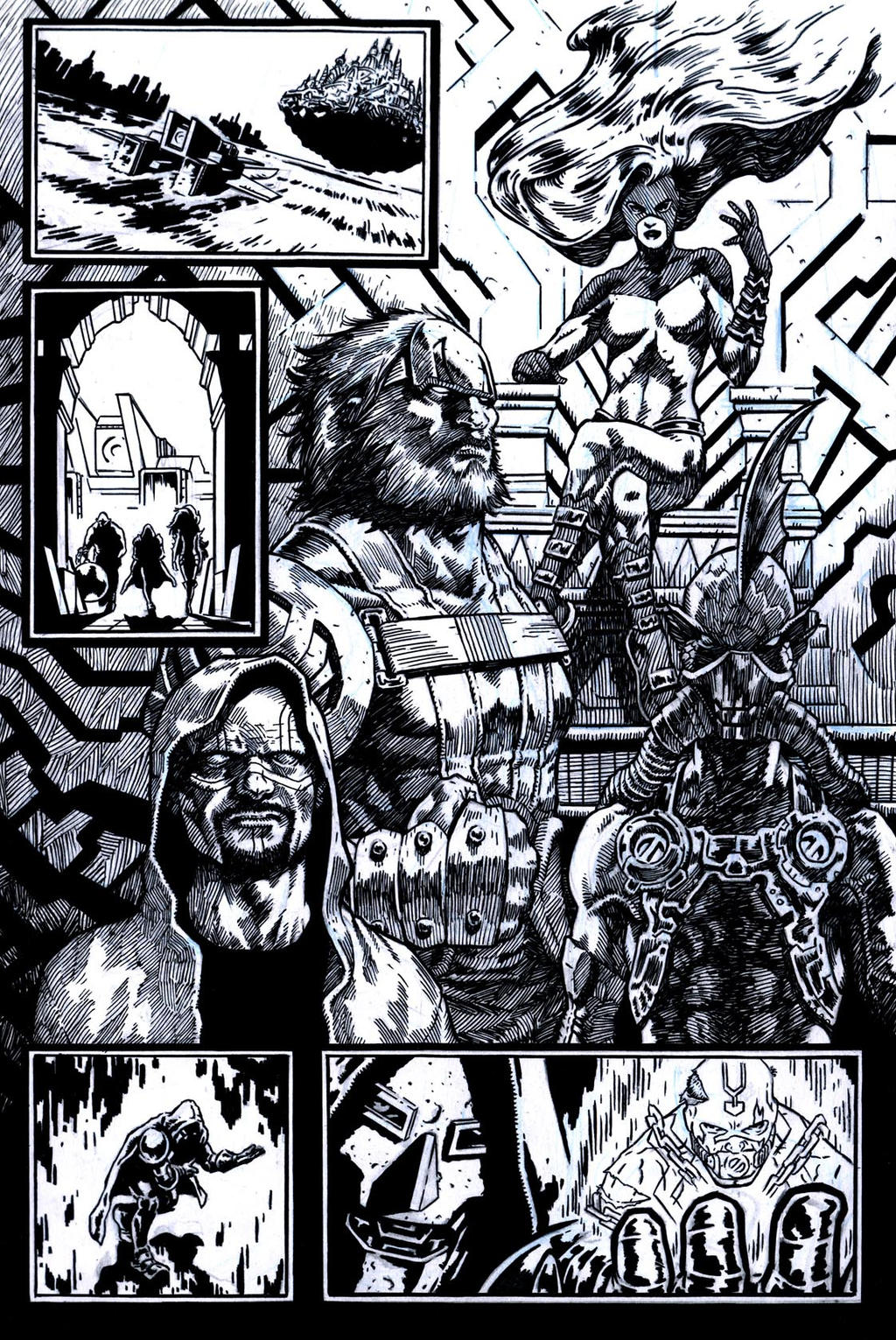 SanEspina Inhumans page2 ink by santiagocomics