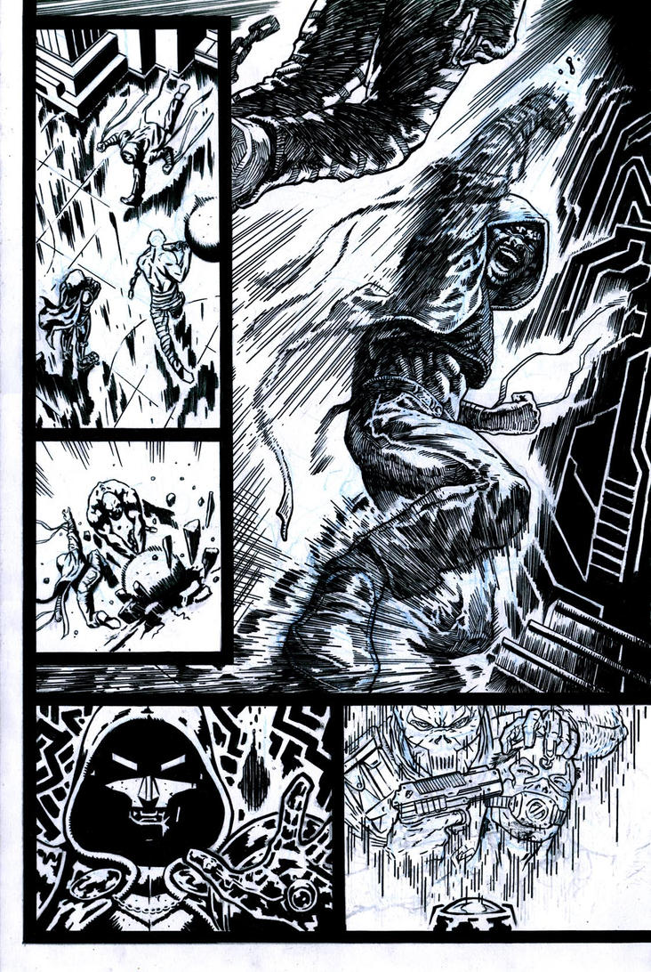 SanEspina Inhumans page3 ink by santiagocomics