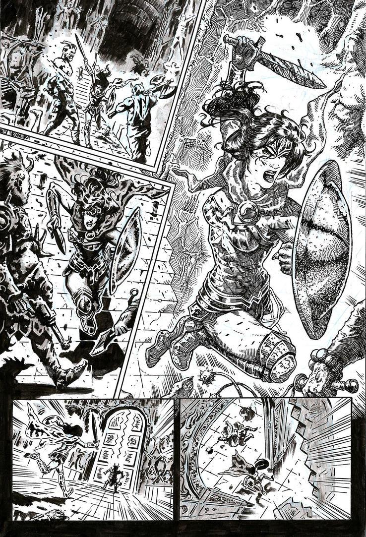 SanEspina WonderWoman Page1 by santiagocomics