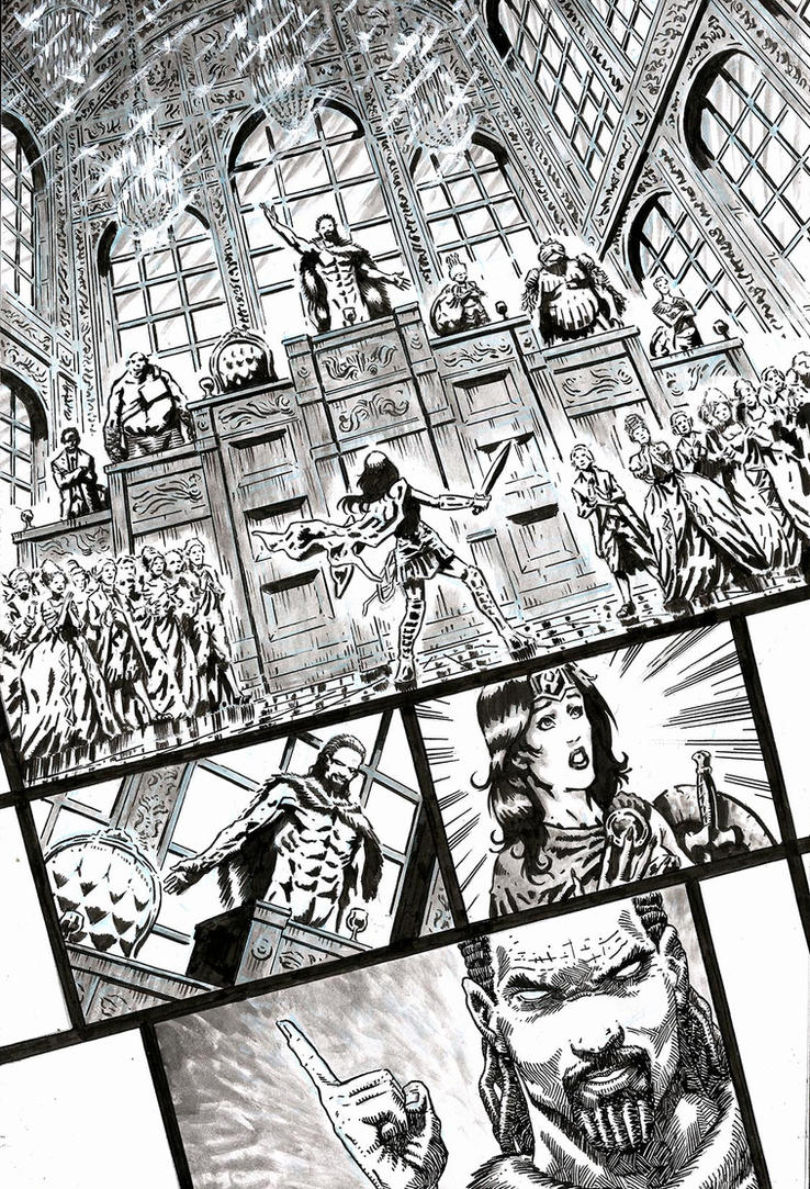 SanEspina WonderWoman Page2 by santiagocomics