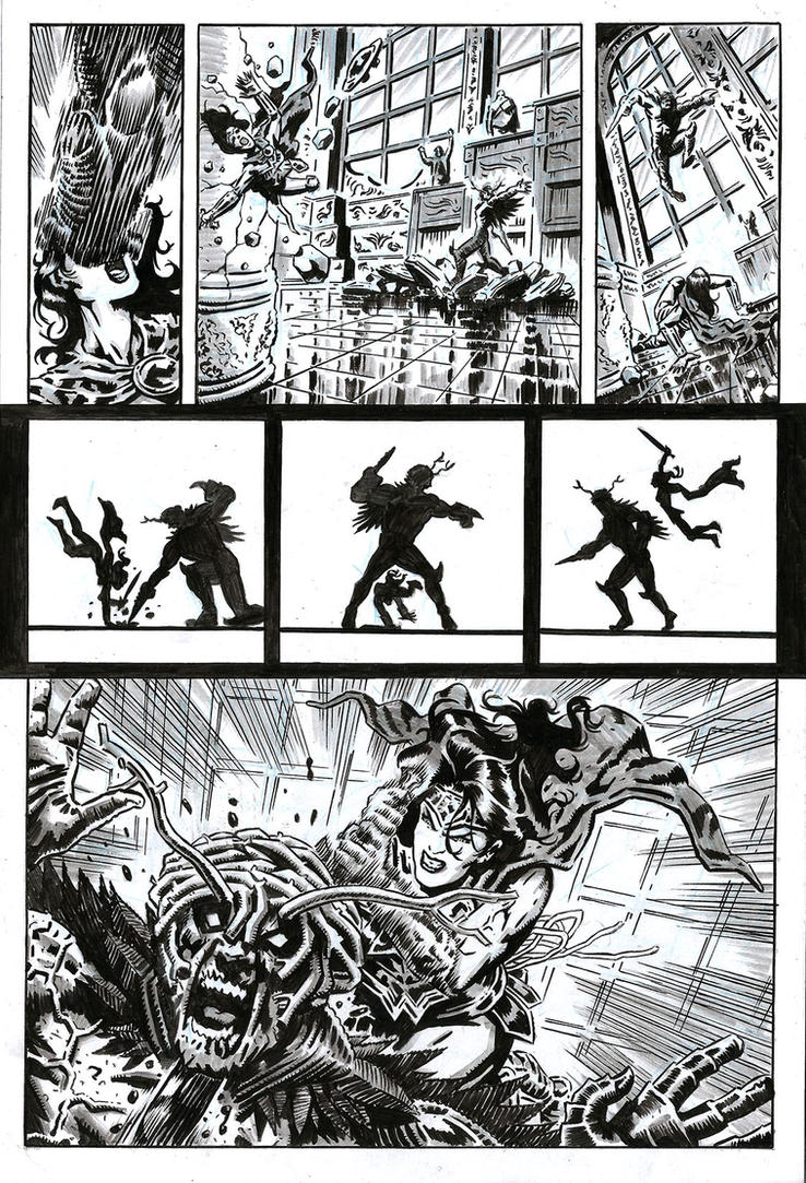 SanEspina WonderWoman Page4 by santiagocomics