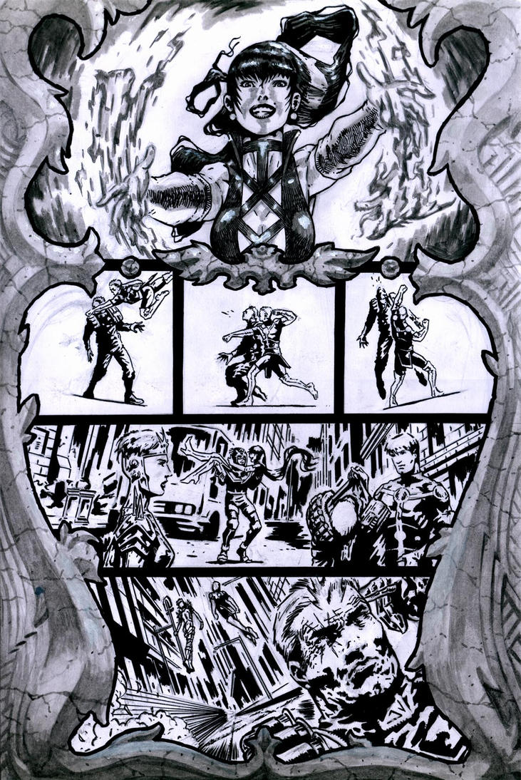 SanEspina Cable page4 ink by santiagocomics