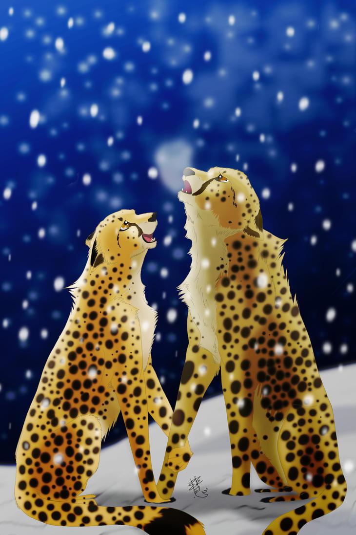Snow Cheetahs by SakuraCheetah
