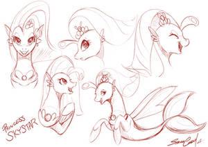 Princess Skystar sketch by SakuraCheetah