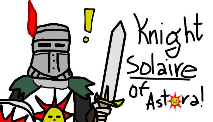 Knight Solaire Quick Drawing by Rekusha on DeviantArt