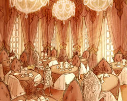 Deathly Lush Baroque Tearoom by Mensaman