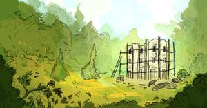 Abandoned folly