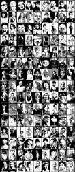 the big celebrity poster 2.0 by Mensaman