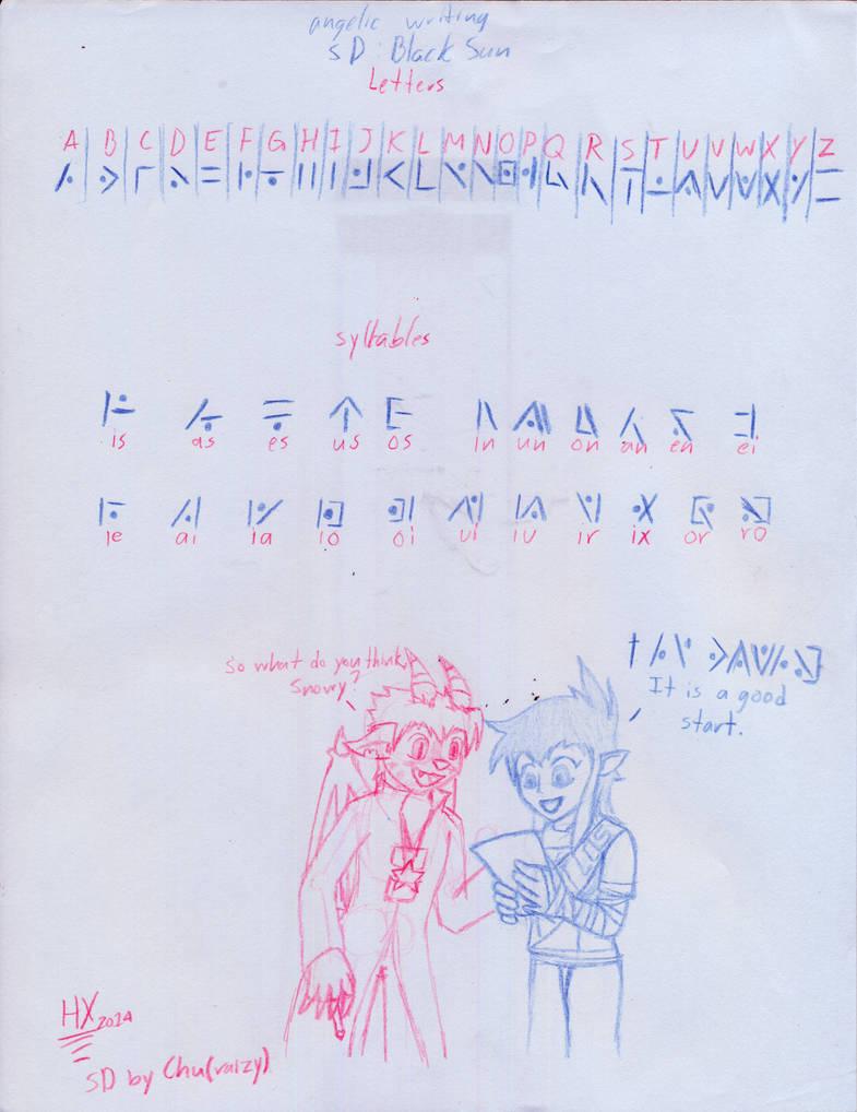 Angelic Alphabet Slightly Damned Bs By Inkicrow On Deviantart