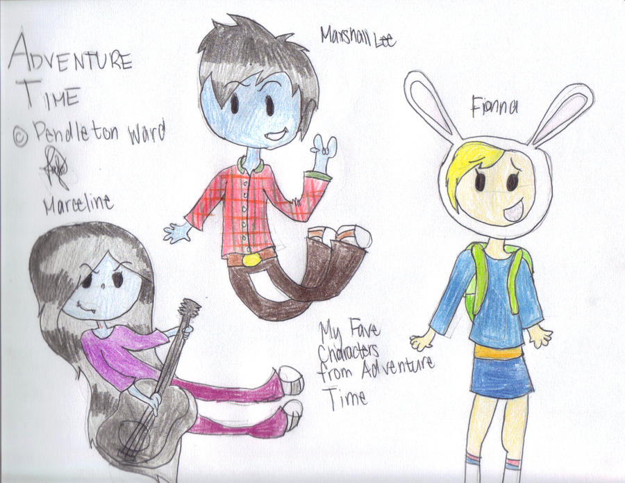 Adventure Time: Fionna, Marshall Lee and Marceline by ...