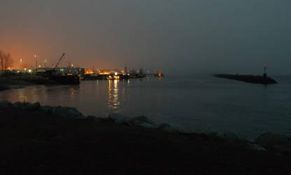 Lifting fog from Steveston Harbor