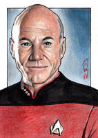 Picard - Star Trek SketchCard by J-Redd