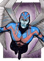 Archangel - X-Men Sketch Card by J-Redd