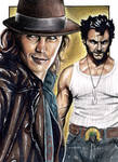 Gambit and Logan - Sketch Card