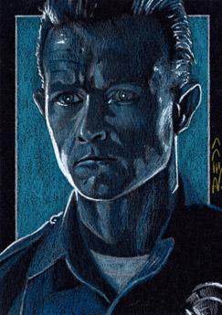 T 1000 Terminator 1000 -Terminator Sketch Card by J-Redd on DeviantArt